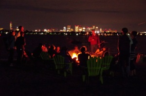 Singing around the bonfire